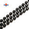 Black Onyx Hard Cut Faceted Off Round Beads Size 9x10mm 15.5'' Strand