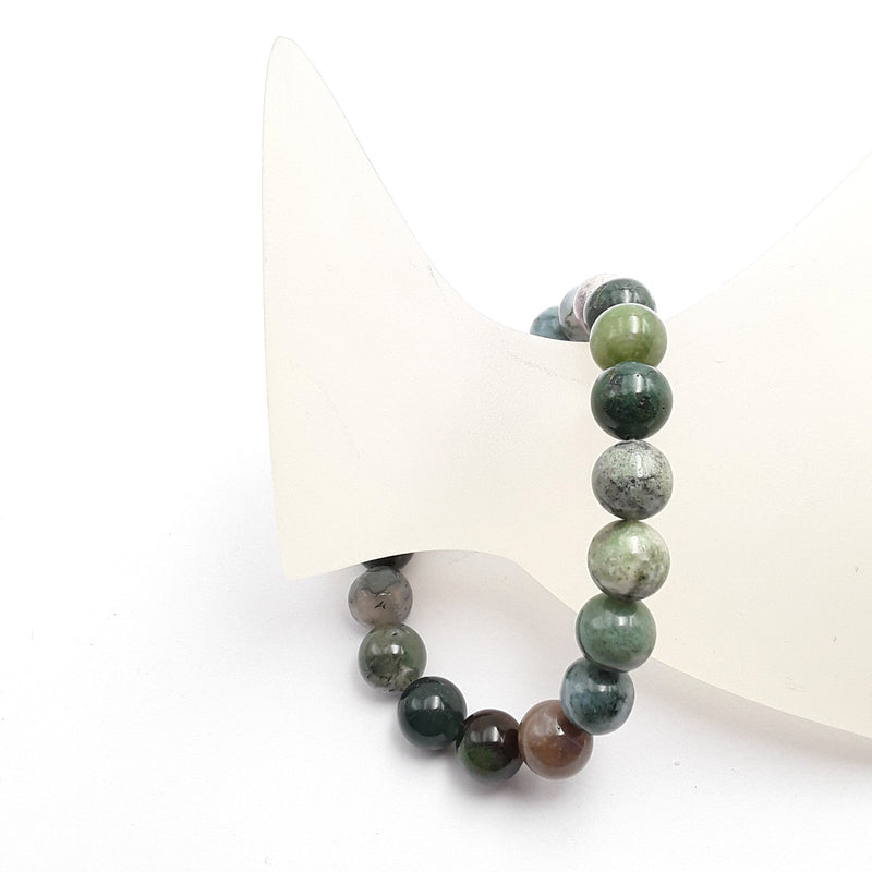 indian agate bracelet smooth round