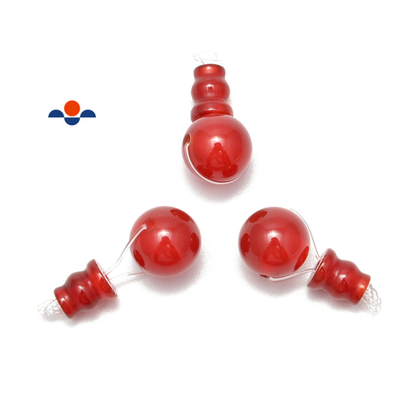 carnelian guru beads three holes t beads