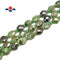 "Nephrite Jade Faceted Flat Oval Beads Size 7x8mm 15.5"" Strand"