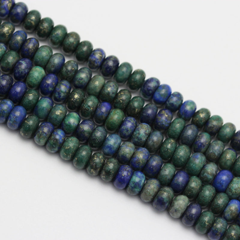 large hole chrysocolla smooth rondelle beads