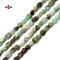 "Natural Chrysoprase Smooth Pebble Nugget Beads 5-8mm 15.5"" Strand"