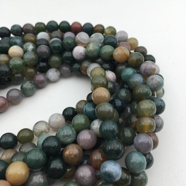 indian agate smooth round beads