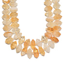 Citrine Graduated Center Drill Faceted Points Beads Size 13mm-25mm 15.5'' Strand