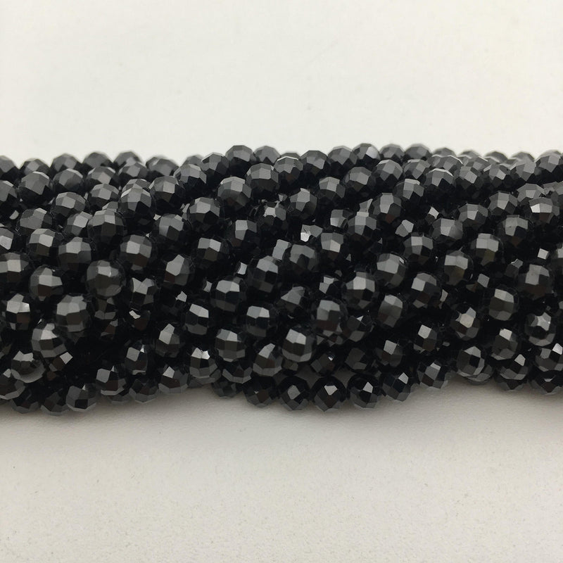 natural spinel faceted round beads