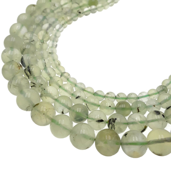 prehnite smooth round beads