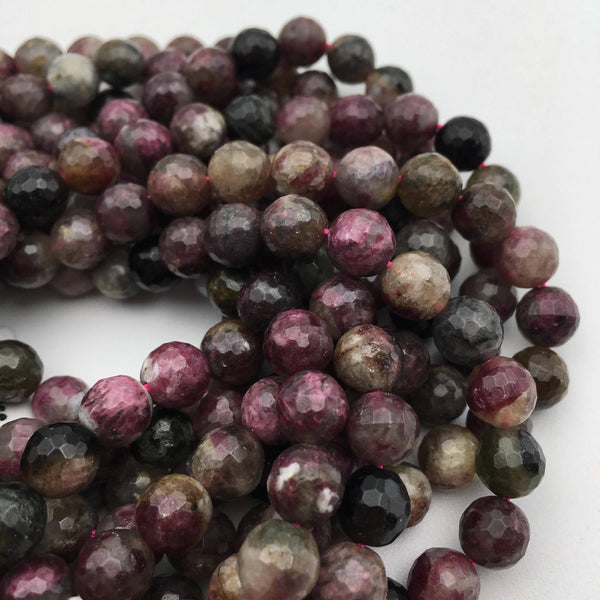 chinese tourmaline faceted round beads