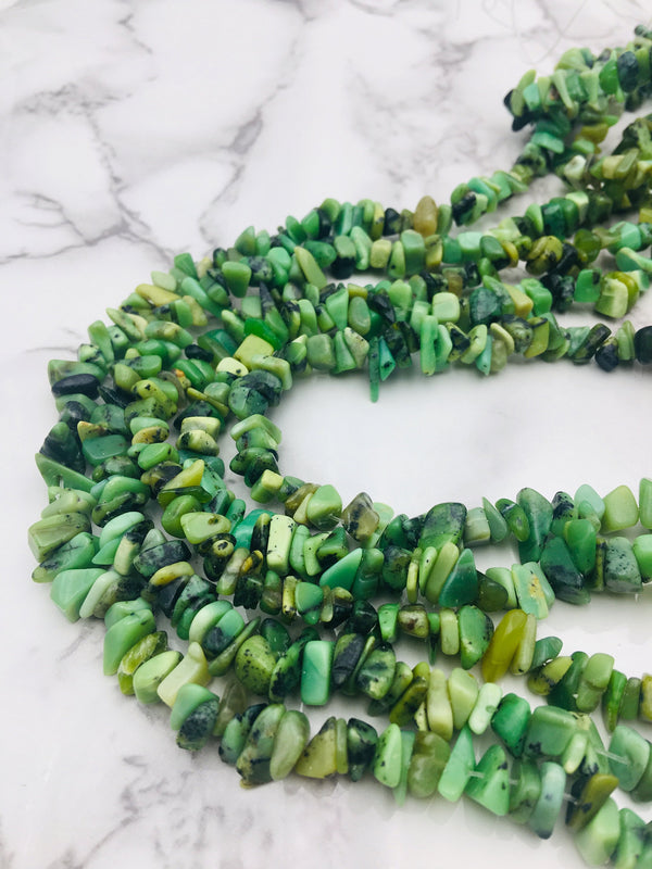 chinese chrysoprase irregular nugget Chips beads