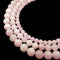 natural pink mangano calcite smooth round beads