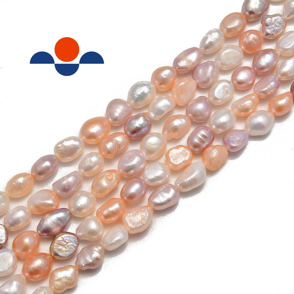 multi fresh water pearl side drill nugget beads