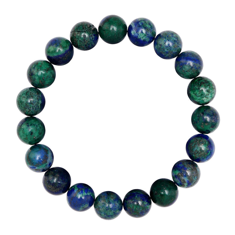 chrysocolla smooth round bracelet