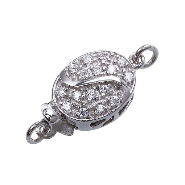 sterling silver oval shape clasp