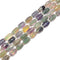 Fluorite Faceted Drum Shape Beads Size 10x13mm 15.5'' Strand