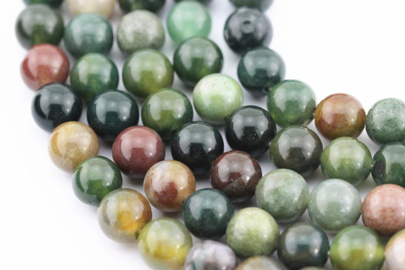 large hole indian agate smooth round beads