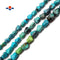"Natural Turquoise Dog Bone Shape Nugget Beads 6x8mm 7x9mm 8x10mm 15.5"" Strand"