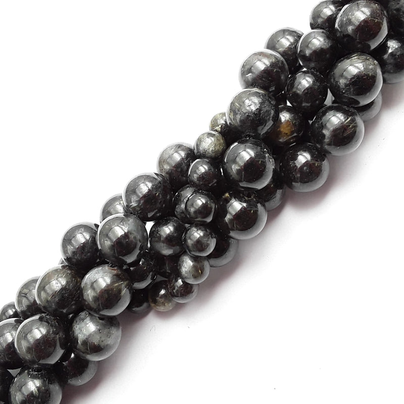 arfvedsonite smooth round beads