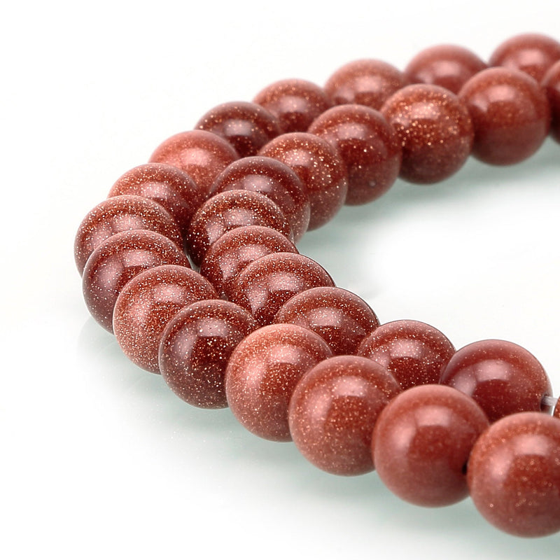 gold sandstone smooth round beads