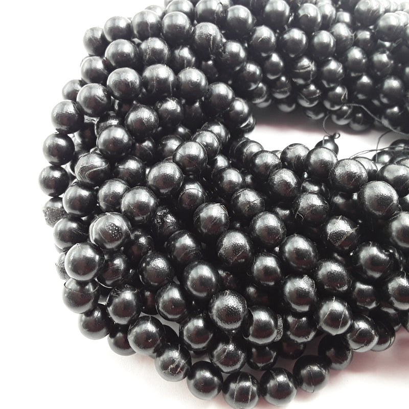 natural black coral round beads