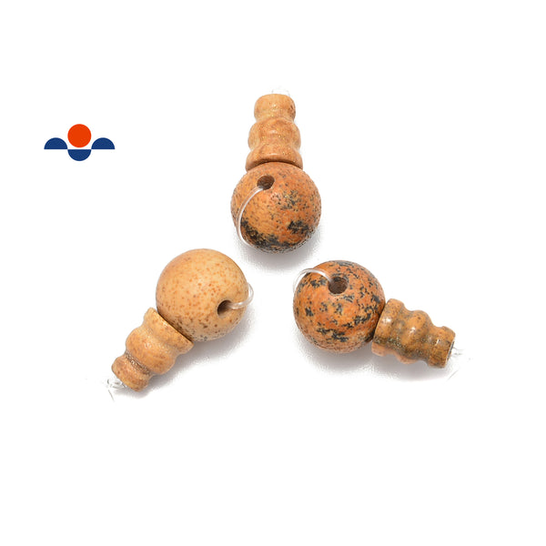 picture jasper guru beads three holes t beads