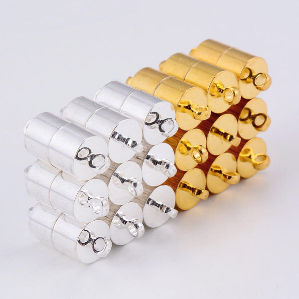 silver gold color plated strong magnetic clasps cylinder shape