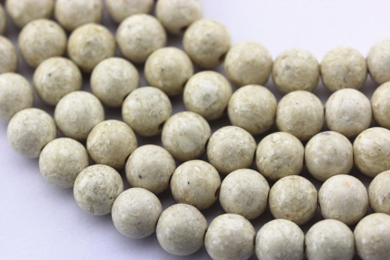 large hole river stone smooth round beads