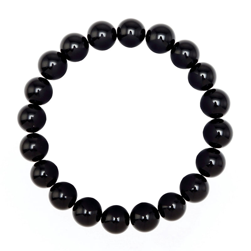 black onyx bracelet smooth round