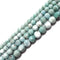 high quality natural larimar faceted round beads