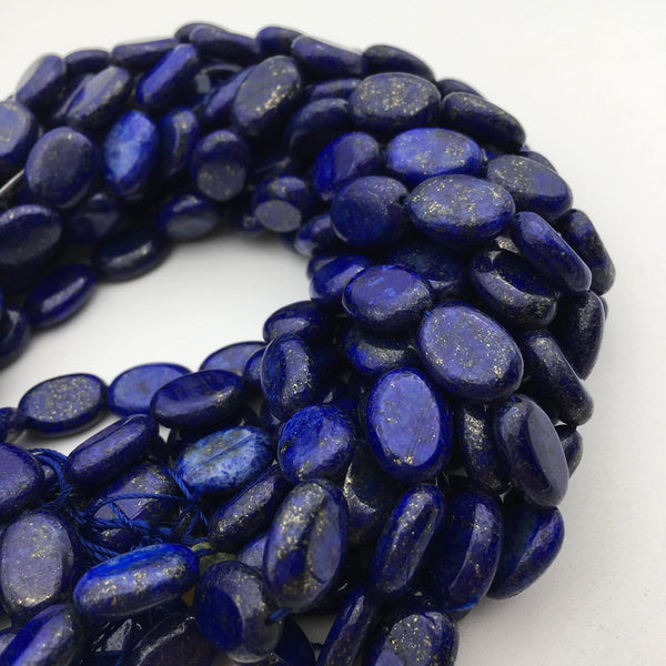 lapis lazuli smooth oval shape beads