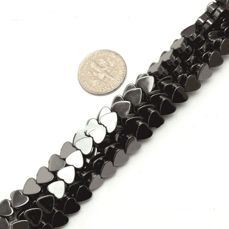 natural hematite heart shape beads