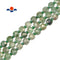 "Green Strawberry Quartz Faceted Flat Square Beads Size 10mm 15.5"" Strand"