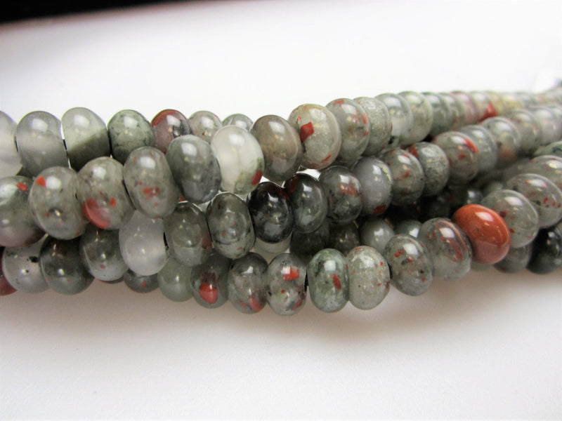 large hole african bloodstone smooth rondelle beads