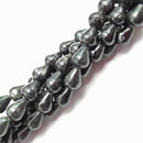 "Arfvedsonite Smooth Teardrop Beads Approx 8x10mm 16"" Strand"