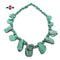 "Green Magnesite Turquoise Graduated Slice Beads Approx 20x30mm 40x50mm 15.5"" Strand"