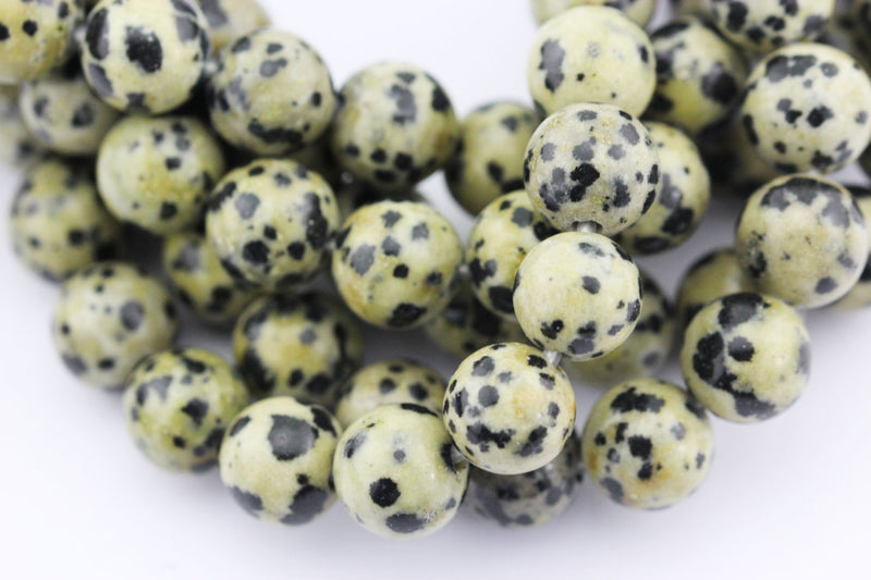 large hole dalmatian japser smooth round beads
