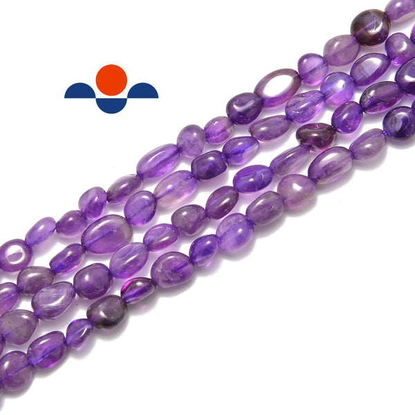 natural amethyst pebble nugget beads