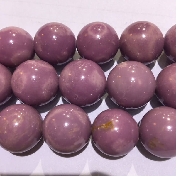 phosphosiderite smooth round beads