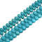 "Blue Howlite Turquoise Teardrop Top Drill Beads Size 10x14mm 13x18mm 15.5""Strand"