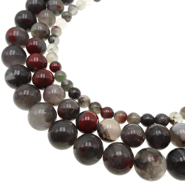 african bloodstone smooth round beads