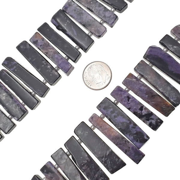 natural charoite graduated slice Sticks Points beads