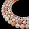 cherry flower sakura agate smooth round beads