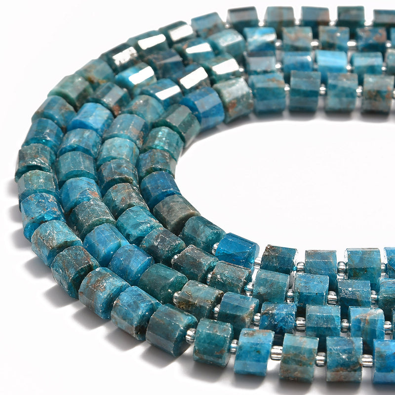 apatite faceted rondelle wheel disc beads