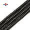 Shungite Smooth Rondelle Beads Size 4x6mm 5x8mm 6x10mm 15.5'' Per Strand
