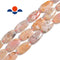 cherry flower sakura agate smooth flat oval beads
