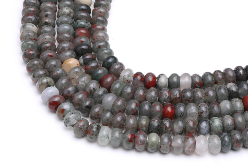 african bloodstone smooth rondelle beads