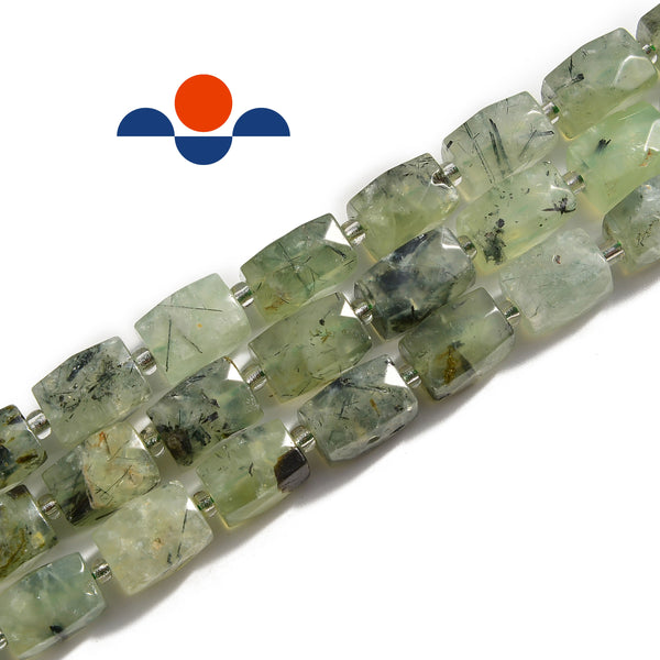 prehnite rectangle tube beads