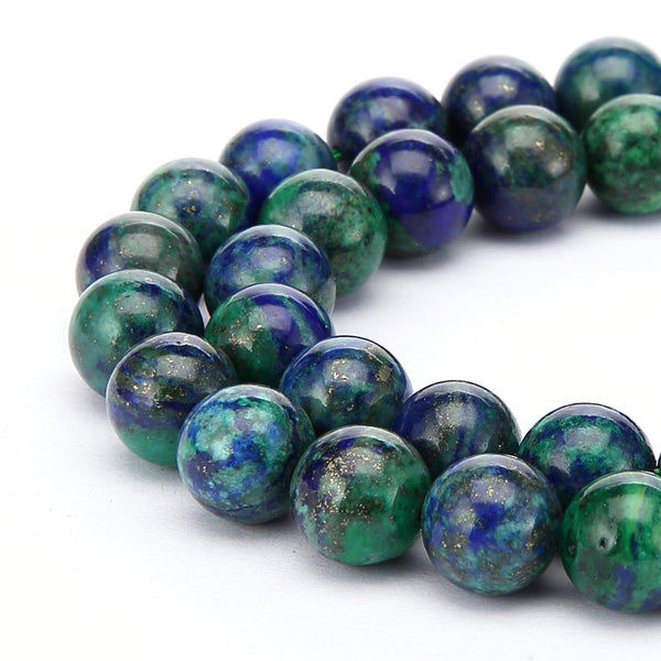 chrysocolla smooth round beads