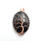 black onyx tree pendant copper wire wrap oval