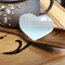 "Natural Selenite Heart Shape Palm Stone Approx 75x65mm 3.5"" Inch Sold Per Piece"
