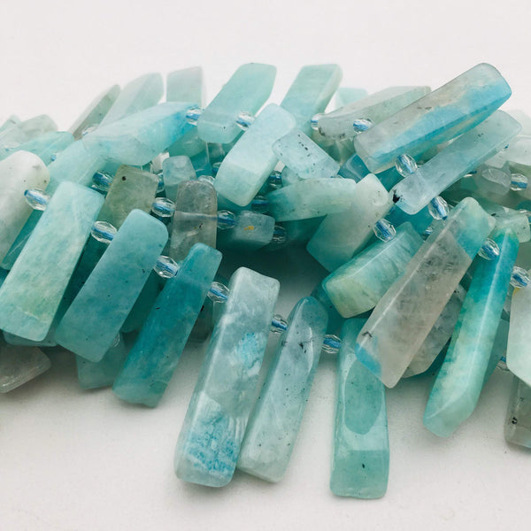 natural amazonite graduated slice Sticks Points beads