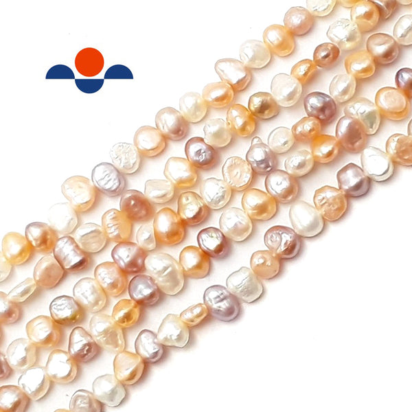 multi fresh water pearl center drill nugget beads
